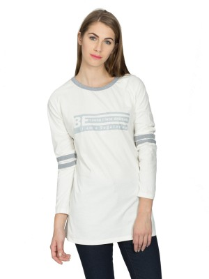 Miss Chick Casual Full Sleeve Solid Women's White Top