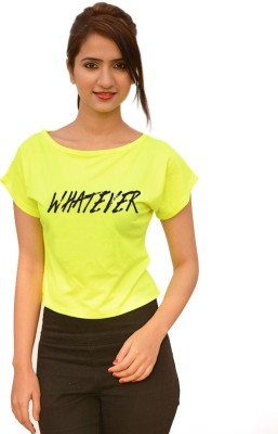 StyleFlies Casual, Party Short Sleeve Printed Women's Green Top