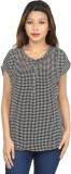 Chloe Casual Short Sleeve Houndstooth Wo...