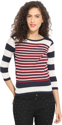 Northern Lights Casual 3/4 Sleeve Striped Women's Multicolor Top