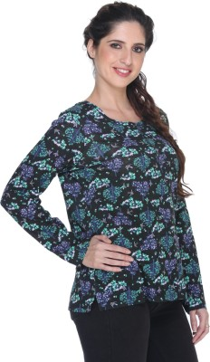 Fast n Fashion Casual Full Sleeve Floral Print Women's Multicolor Top