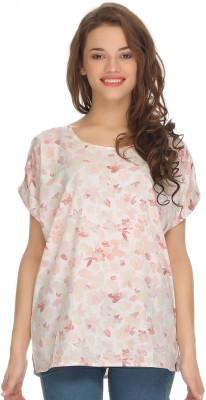 Clovia Casual Cap sleeve Printed Women's White Top