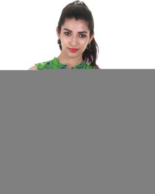 Estyle Casual Sleeveless Printed Women's Green Top