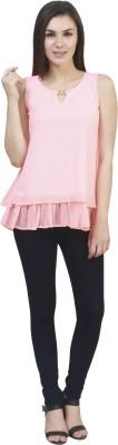 kellan Casual Sleeveless Solid Women's Pink Top