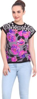 RSVP Cross Casual Short Sleeve Printed Women's Multicolor Top