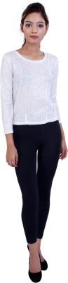 Ameri Lounge Wear 3/4 Sleeve Woven Women's White Top