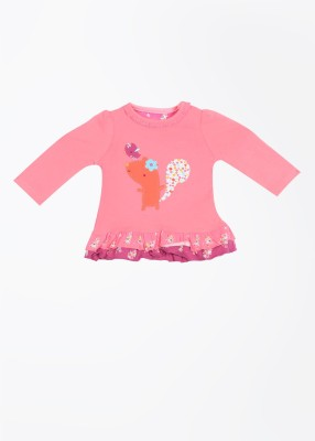 Mothercare Casual Full Sleeve Printed Baby Girl's Pink Top
