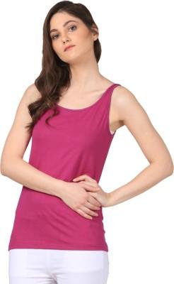 FashionExpo Casual, Beach Wear Sleeveless Solid Women's Purple Top