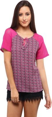 Yepme Casual Short Sleeve Printed Women's Multicolor Top at flipkart