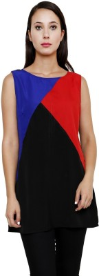 Rumara Casual Sleeveless Solid Women's Multicolor Top