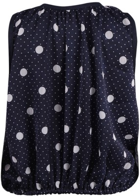 Toddla Casual Sleeveless Printed Girl's Blue Top