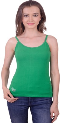 Lee Marc Casual Noodle strap Solid Women's Green Top