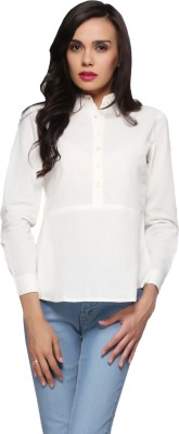 Delfe Casual Full Sleeve Solid Women's White Top
