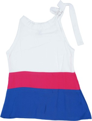 Kidzblush Casual Sleeveless Solid Girl's White, Red, Blue Top