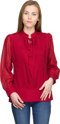 Panit Casual Full Sleeve Solid Women,s Maroon Top