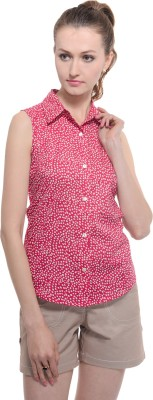 A Luv Ya Casual Sleeveless Polka Print Women's Red, White Top