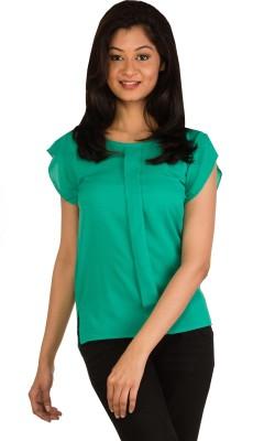 Modo Vivendi Casual Sleeveless Solid Women's Green Top