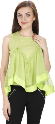 Svt Ada Collections Party Sleeveless Solid Women's Green Top