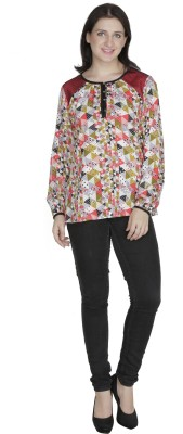 French Creations Casual Full Sleeve Printed Women's Multicolor Top