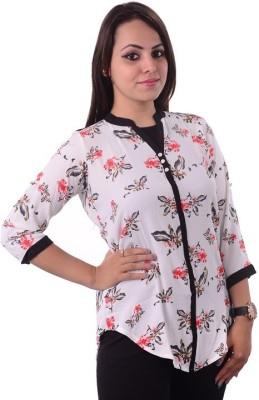 Shivi's Designer Studio Formal 3/4 Sleeve Floral Print Women's Multicolor Top