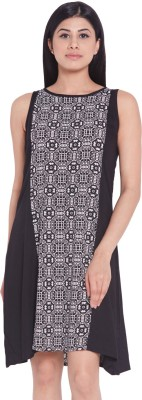 Globus Casual Sleeveless Printed Women's Black Top