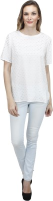 Pab Jules Casual Short Sleeve Solid Women's White Top