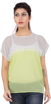 Liwa Casual Short Sleeve Solid Women's White Top