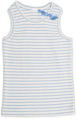 Nino Bambino Casual Sleeveless Striped Baby Girl's Blue Top