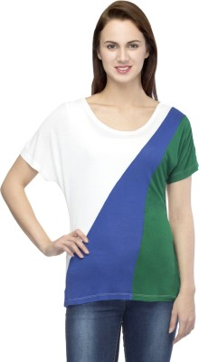 Primo Knot Casual Short Sleeve Solid Women's Multicolor Top