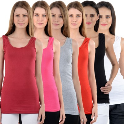 NumBrave Casual Sleeveless Solid Women's Multicolor Top