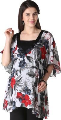 Morph Maternity Casual Short Sleeve Floral Print Women's White Top at flipkart