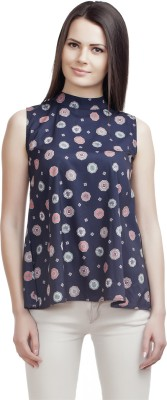 ORIANNE Casual Sleeveless Printed Women's Multicolor Top