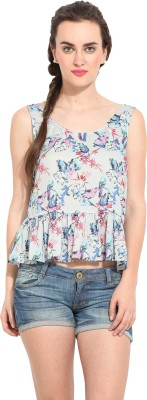 Rena Love Casual Sleeveless Printed Women's Multicolor Top
