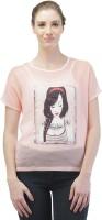 Merch21 Casual Short Sleeve Self Design Women's Pink Top best price on Flipkart @ Rs. 298