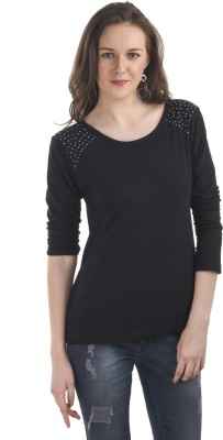 Ausehen Casual Full Sleeve Solid Women's Black Top