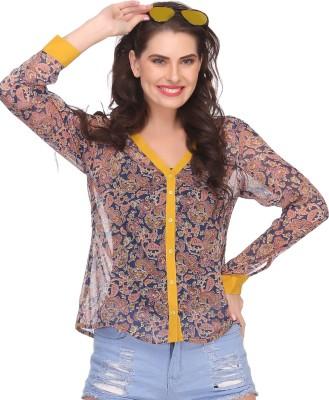 Clovia Casual Full Sleeve Printed Women's Yellow Top