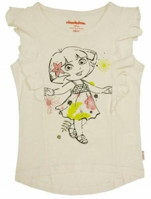 Dora Casual Short Sleeve Printed Girl's Grey Top