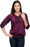 RPB Casual 3/4th Sleeve Solid Women's Bl...