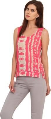 Leo Sansini Casual Sleeveless Printed Women's Multicolor Top