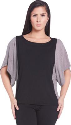 Globus Casual Short Sleeve Solid Women's Multicolor Top