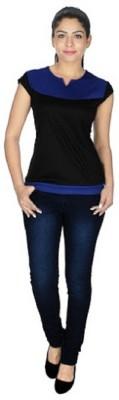 gsi Casual Sleeveless Paisley Women,s Blue, Black Top