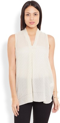 Anasazi Casual Sleeveless Printed Women's Beige Top