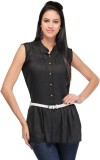 Royal Casual Sleeveless Solid Women's Bl...