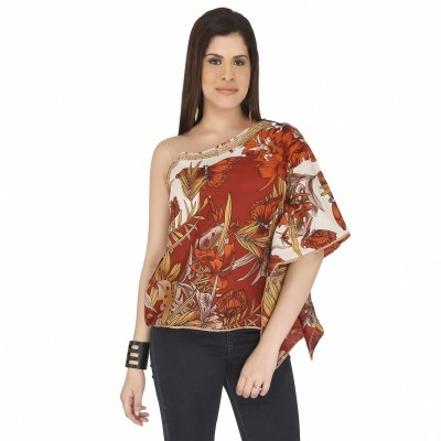 Free Spirited Casual Kimono Sleeve Printed Women's Multicolor Top