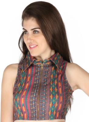Vinegar Party Sleeveless Printed Women's Multicolor Top