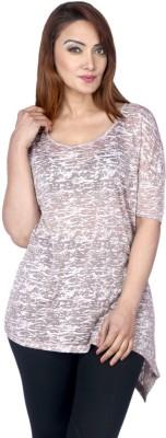 La Divyyu Party Sleeveless Printed Women's Beige Top