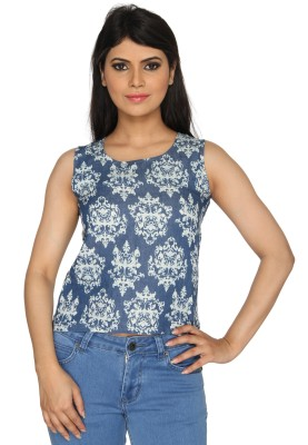 Nuts Clothing Party Sleeveless Printed Women,s Multicolor Top