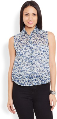 Anasazi Casual Sleeveless Printed Women's Multicolor Top