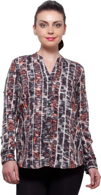 Color Cocktail Casual Full Sleeve Printed Womens Multicolor Top