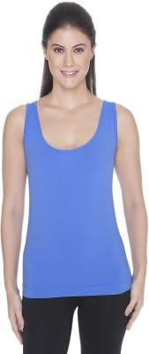 C9 Sports Sleeveless Solid Women's Dark Blue Top
